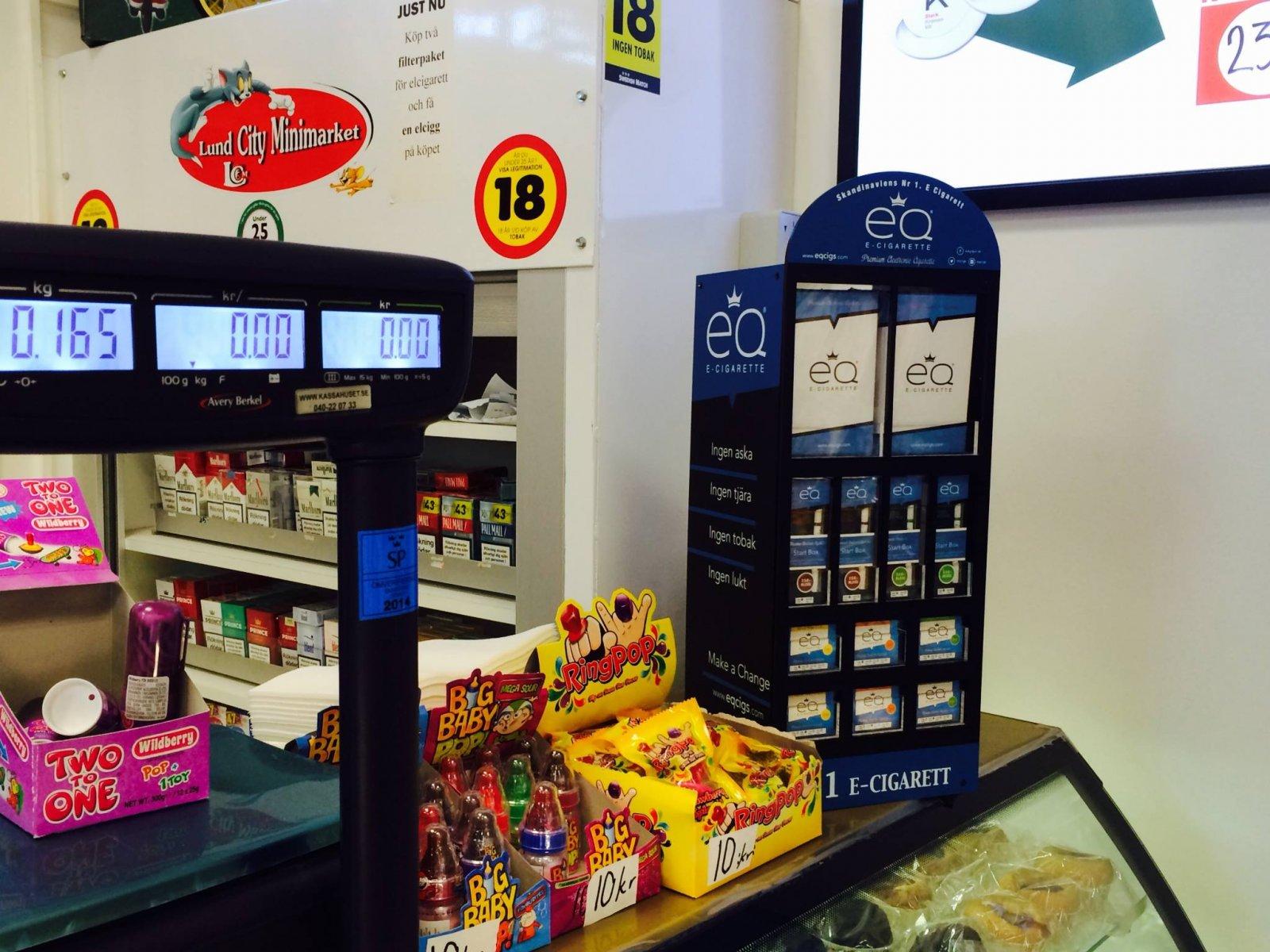 EQ Cigs e-cigaretter i butik